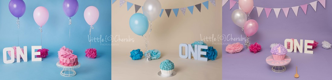 Cake smash photos set up studio march photographer