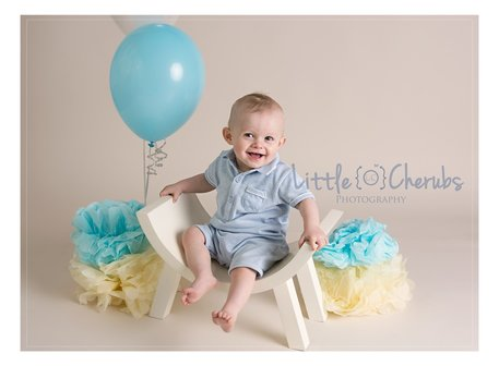 Baby boy first birthday portraits cake smash photos