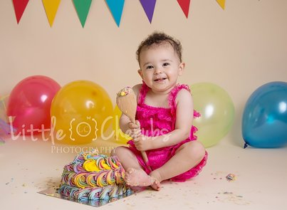 Rainbow cake smash photos cambridge peterborough ely little cherubs photography